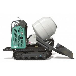 Mini-transporteur hydrostatique CARRY 110BC sur chenilles caoutchouc avec bétonnière et pelle