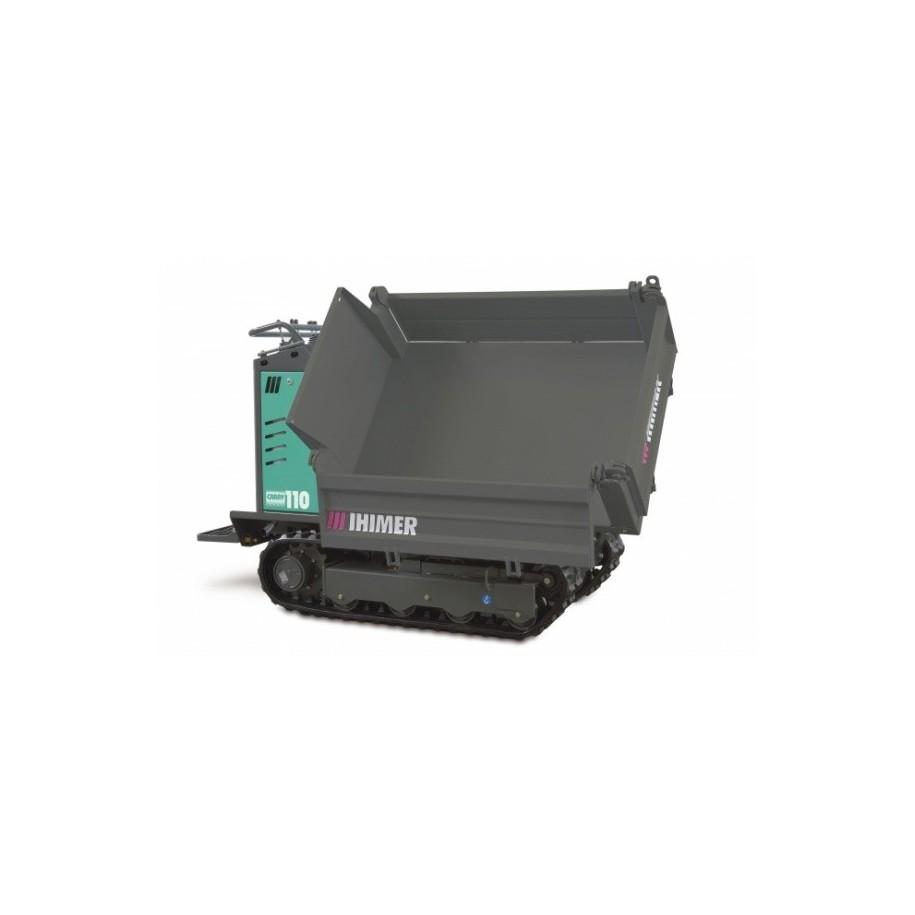 Mini-transporteur hydrostatique CARRY 110T sur chenilles caoutchouc tribenne