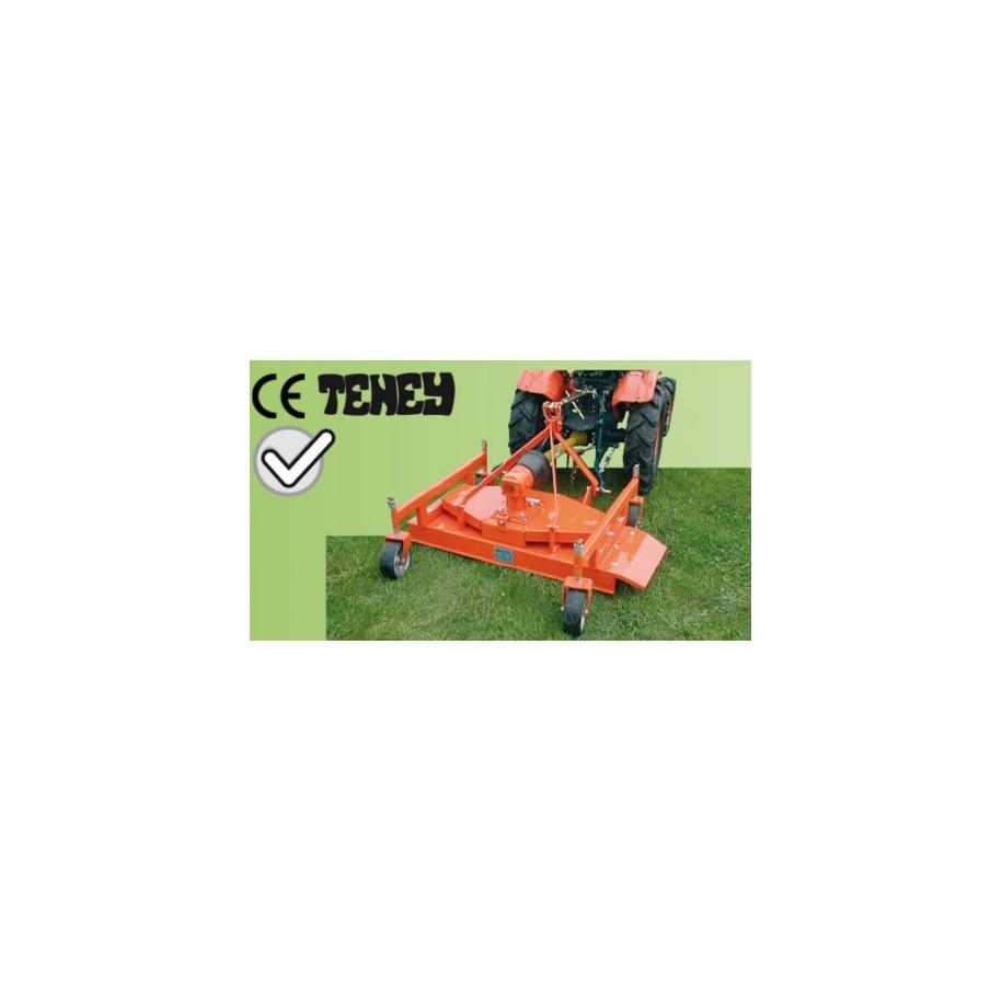 Tondeuse arrière 120 cm avec hauteur de coupe réglable pour micro tracteur