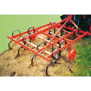 Cultivateur avec dents flexibles pour micro tracteur