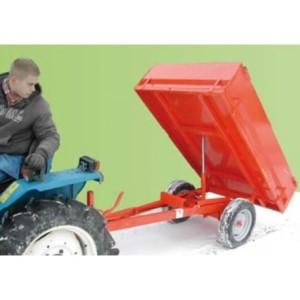 Remorque bennage arrière pour micro tracteur