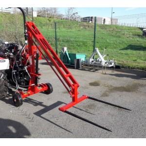 Chargeur  de balles pour micro tracteur