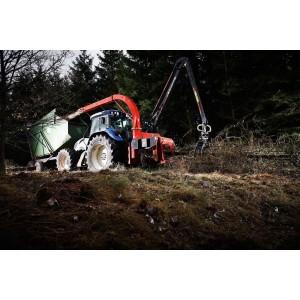 Déchiqueteuse de branches derrière tracteur et grue TP320 PTO K