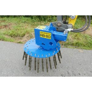 Brosse hydraulique pour mini pelle de 1 à 9 Tonnes